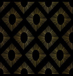 Gold foil ikat seamless pattern abstract vector