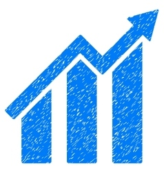 Growth Chart Grainy Texture Icon vector image vector image