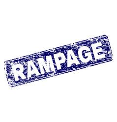 Grunge rampage framed rounded rectangle stamp vector