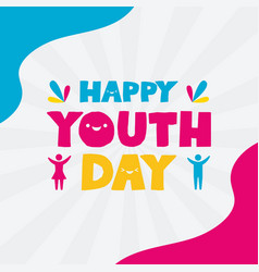 Happy youth day flat design vector