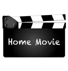 Home movie vector
