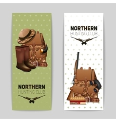 Hunting Banners Set vector image
