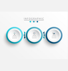 infographic label design template with icons vector image