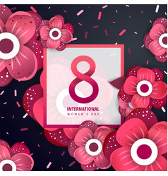 international womens day greeting card vector image
