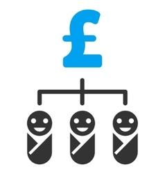 Kid Pound Budget Flat Icon Symbol vector