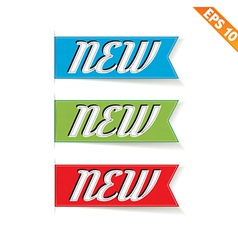 Label stitch NEW tag - - EPS10 vector image