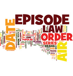 law and order dvd review text background word vector image