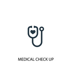 Medical check up icon simple element vector