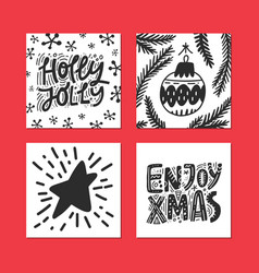 merry christmas card collection vector image