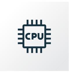 microprocessor outline symbol premium quality vector image