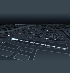 night street map vector image