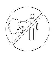 Not to throw garbage icon outline style vector image