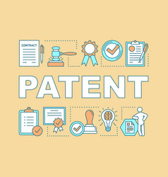 Patent word concepts banner vector