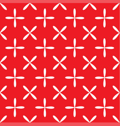 Seamless abstract grid art white red pattern vector