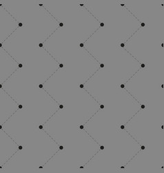 seamless pattern with dots and lines vector image