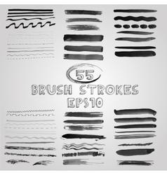 set of grunge shades of grey watercolor vector image