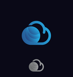 simple cloud vector image