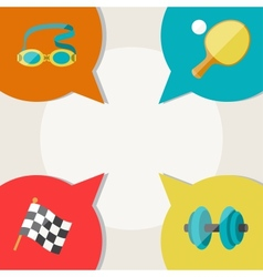 Sports abstract background with speech bubbles vector