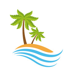 summer and beach symbol vector image