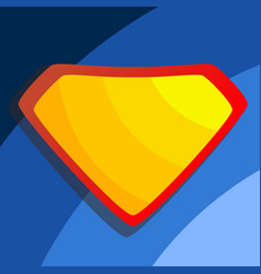 superhero logo yellow red shield emblem vector image