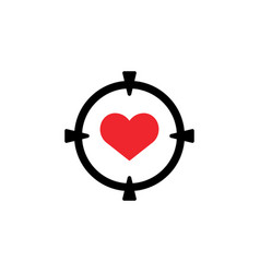 target love icon design template isolated vector image