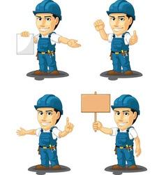 Technician or Repairman Mascot 12 vector