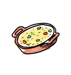 traditional mexican soup hand drawn icon vector image