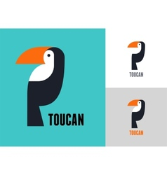 Tropical bird toucan vector