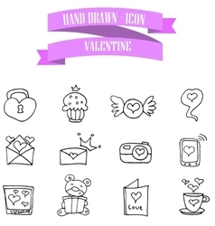 Valentine icons collection vector