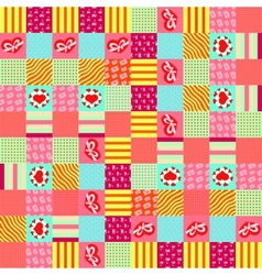 valentines day square pattern vector image