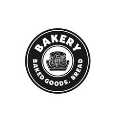vintage emblem cupcake bread bakery logo vector image