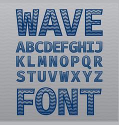 Wave vintage font poster vector