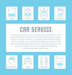 Website banner and landing page car service vector