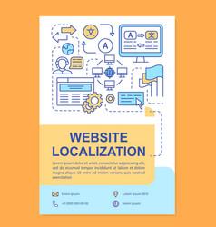 Website localization brochure template layout vector