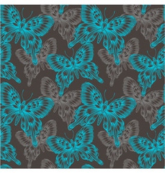Bright seamless pattern with blue decorative vector image vector image