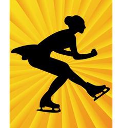 figure skater4 vector image