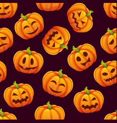 halloween seamless pattern with different funny vector image vector image
