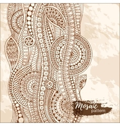 Hand drawn tribal ethnic pattern Doodle grunge vector image vector image