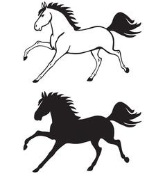 horse contour vector image vector image