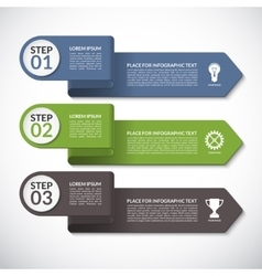 Infographic template banner with 3 options vector image