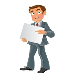 Office worker with text background vector image