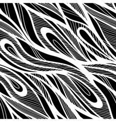 Seamless abstract hand drawn pattern waves vector image