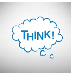 think bubbles vector image vector image