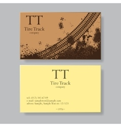 Tire track visit card vector