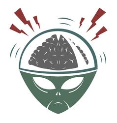 Alien Brain vector image vector image