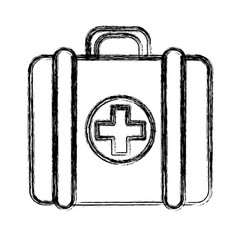 figure first aid kit medications tools vector image