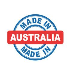 made in australia emblem flat vector image