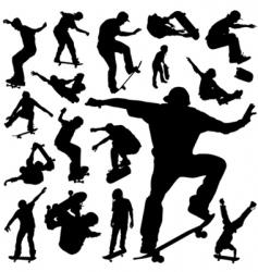 skateboarding vector image