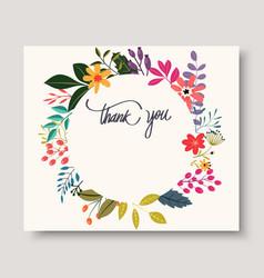 vintage flowers greeting card vector image