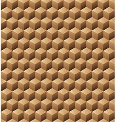 Wooden cubes seamless texture vector